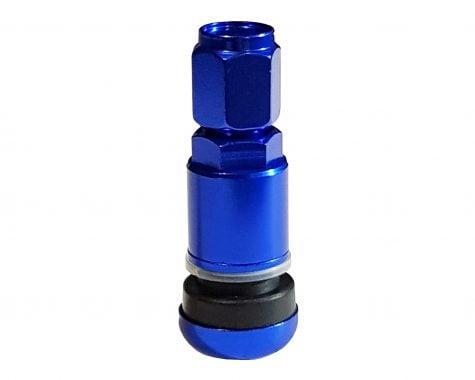 valvă metalică albastră
